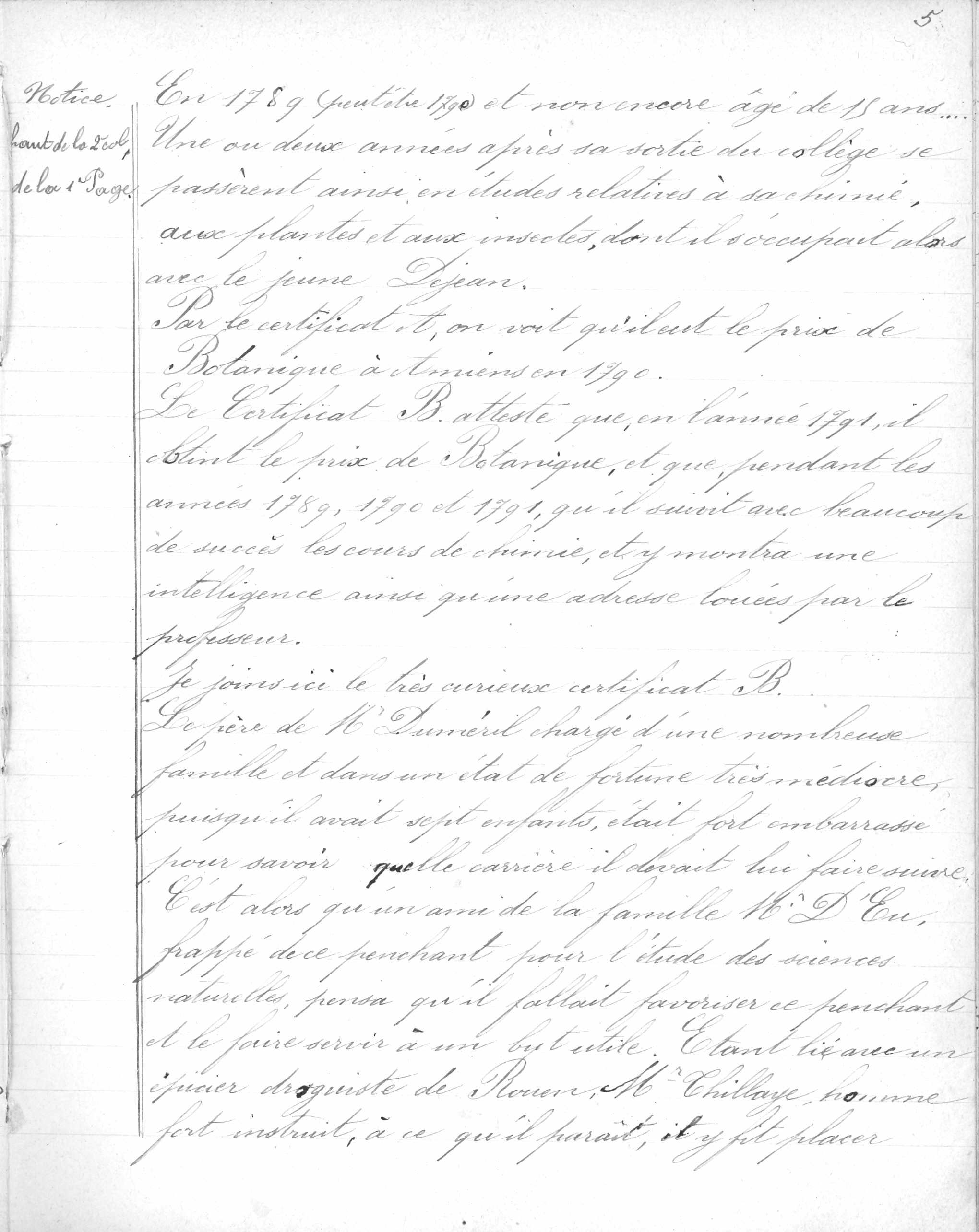 1774-1860. Notes sur André Marie Constant Duméril